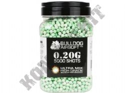 5000 x 6mm x 20g Green White Ultra Mix Polished Airsoft BB Gun Pellets